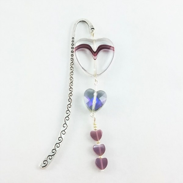 hearts on a string bookmark