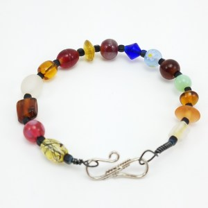 lampwork glass bangle bracelet