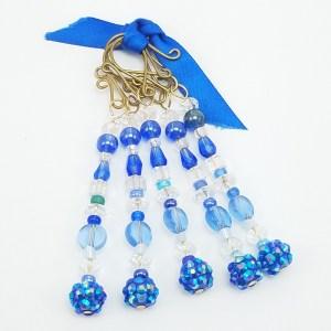 deep blue icicle ornaments