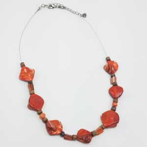 shells on fire necklace
