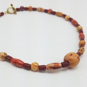 Mixed painted wood necklace