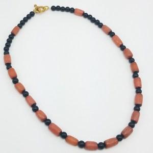 dark coral at midnight necklace