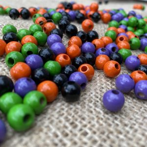 halloween coloured beads
