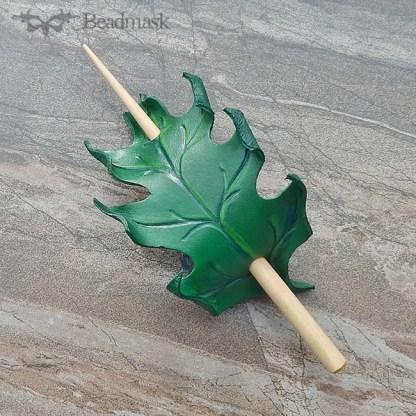 oak leaf hair stick barrette