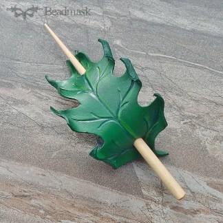 oak leaf hair stick barrette