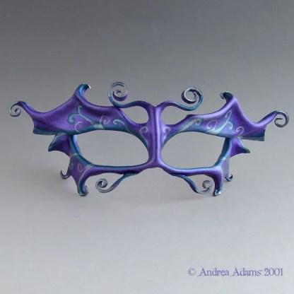 purple fae leather mask