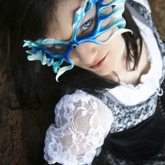 filigree leather fairy mask