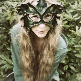 leaf lady leather mask