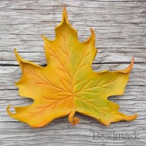 yellow maple barrette