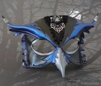 jeweled leather owl mask