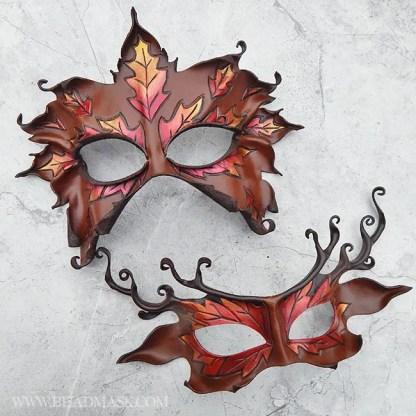 autumn leaves duet masks