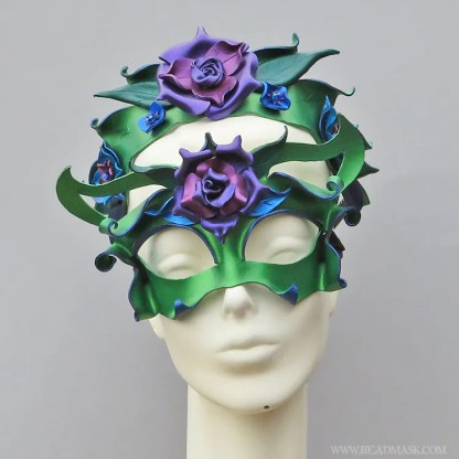 garden fairy mask and crown