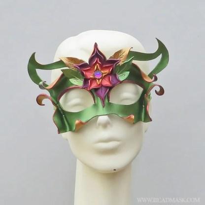 fall fairy leather mask