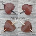 autumn brown birch leaf hair stick colors