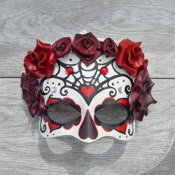 Red rose calaca mask.