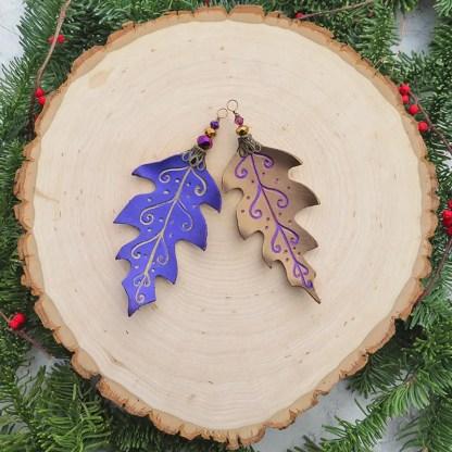 oak leaf ornaments