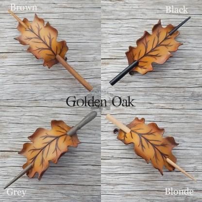 leather leaf hair slides