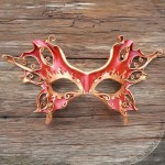 filigree leather mask