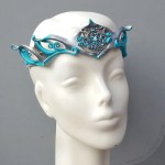 filigree silver leather crown