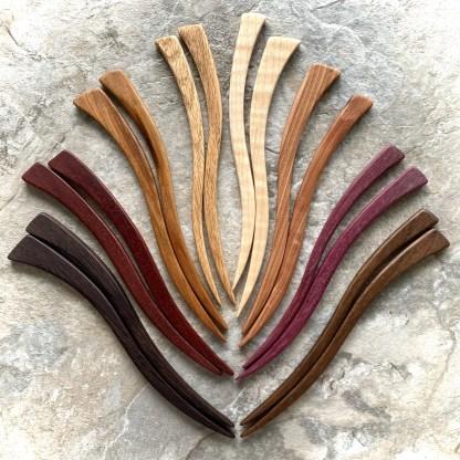 hardwood hair sticks