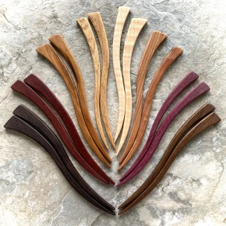 hardwood hair sticks