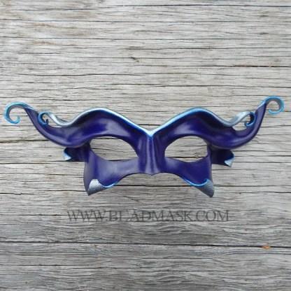 blue devil leather mask