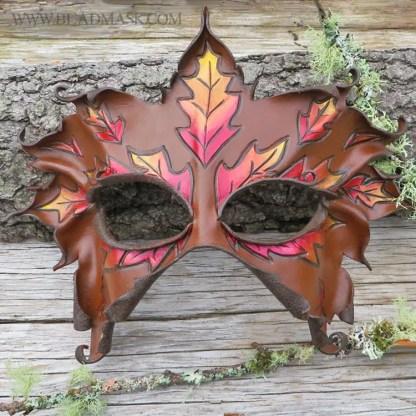 fall greenwoman leather mask