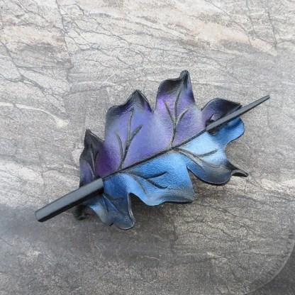 leather ponytail holder or shawl clasp