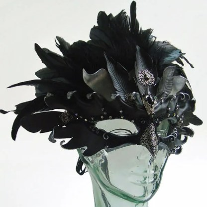 leather raven mask