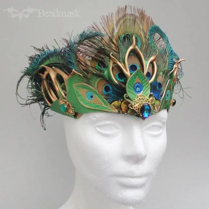 mixed media leather crown