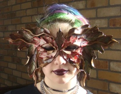leather leaf mask