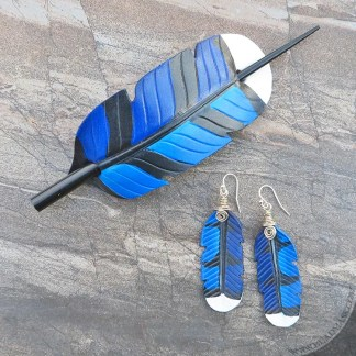 Blue jay feather gift set.