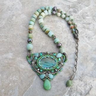labradorite beaded necklace