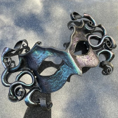 sculpted leather tentacle mask