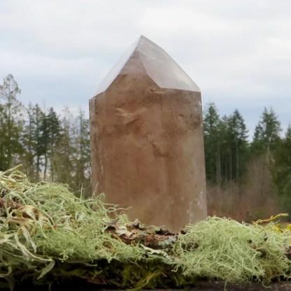 smokey quartz crystal tower