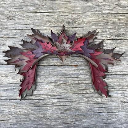 leather leaf crown