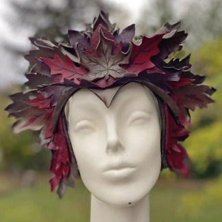 leather leaf crown
