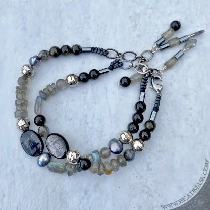 Starlight gemstone bead bracelets