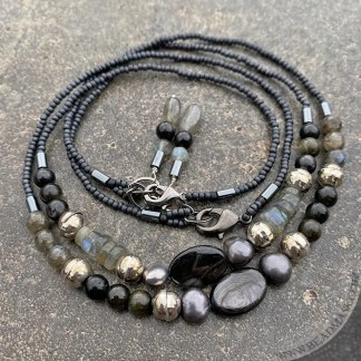 Gemstone beaded layering necklaces