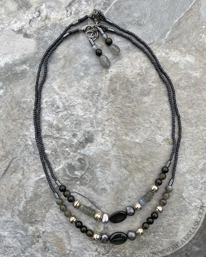 Gemstone beaded layering necklaces