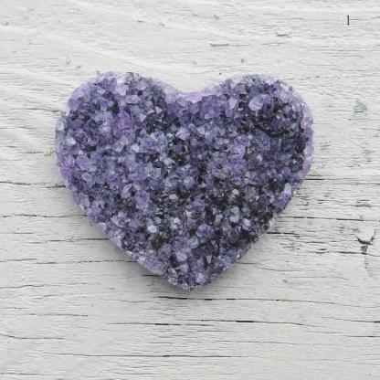 amethyst druzy hearts