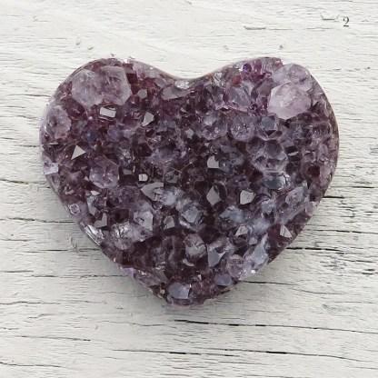 druzy amethyst crystal heart stone