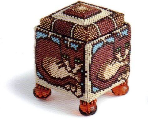 beaded square box