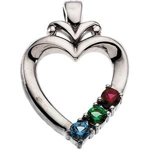 Mother Birthstone Pendant Mothers day birthstone necklace mothers children silver heart birthstone pendant audiocablefo