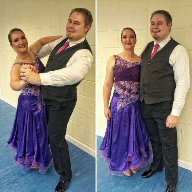 On Saturday we had a long day traqvelling from Southampton to Bath for a competition. I got through a round in intermediate ballroom which was a nice surprise :)