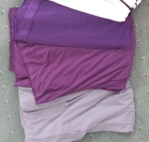 Purple latin dress fabric