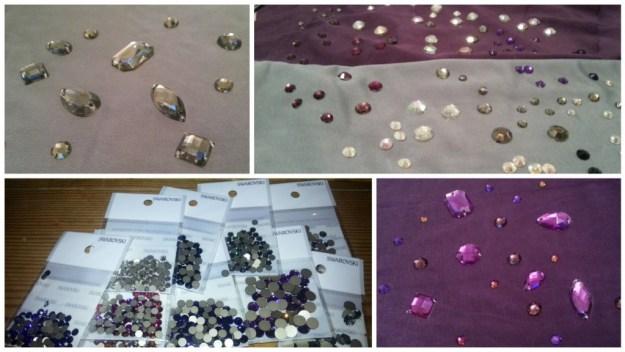 Purple Latin Dress rhinestones