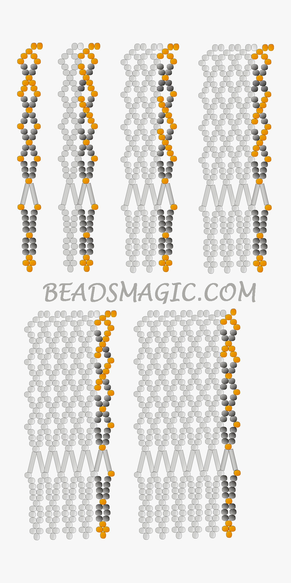 Free Pattern For Beaded Necklace Dana Beads Magic