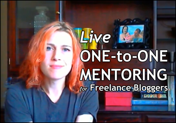 Live-One-to-One-Mentoring for Freelance Bloggers