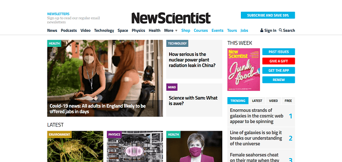 New Scientist magazine pays writers for freelance science writing jobs